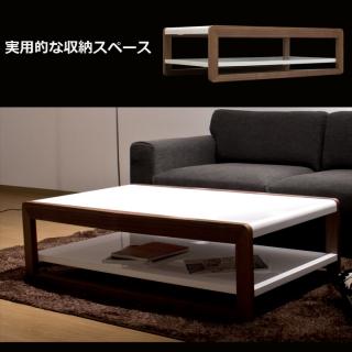 ホワイトハイグロス仕上げ リビングテーブル / Brero