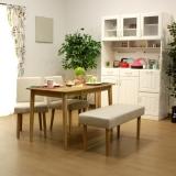 ダイニング ベンチ+チェア2脚+テーブル 4点セット / Flower(フラワー)