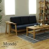 木枠フレームファブリックソファ 3人掛け / Mondo(モンド) ブルー