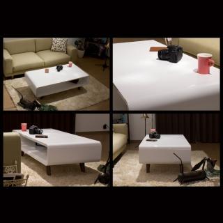 ホワイトハイグロス仕上げ リビングテーブル / Davia