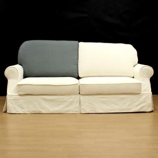 カントリーカバーリングソファ用替え背クッション・座って右側(Bタイプ2.5人掛け用)