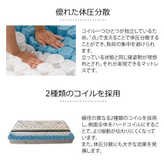 ヘッドレスSベッドフレーム《ポケットコイルマットレス付》 / Cross Bed VIEGA-HL