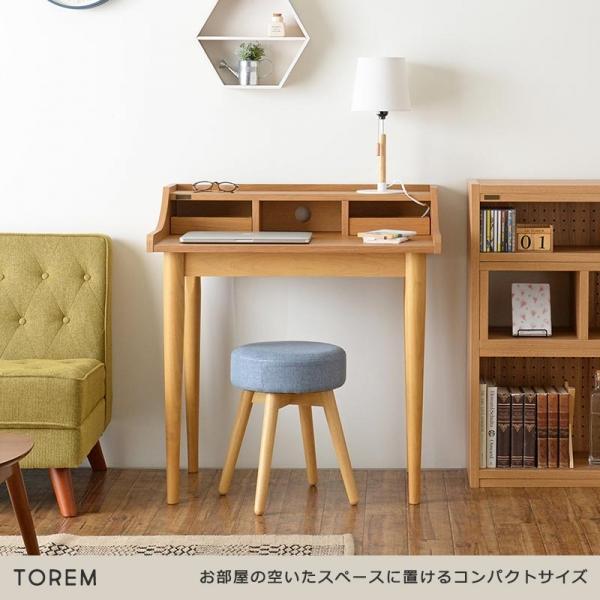 シンプルデザインデスク 80㎝幅 / Torem(トレム)
